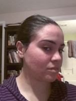 This is a photo taken after one of my clay mask treatments.