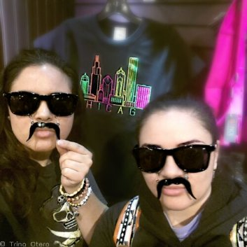 The souvenir shop inside the Tower is a decent size, but of course, us being goofs, we found these sunglasses to be the most amusing. Lol...