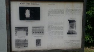 Information on the Forum, Aquileia, Italy. Photo taken by Trina Otero with Samsung Galaxy Note 2.