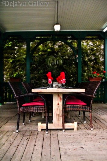Beautiful table setup at Vila Ajda Bled [not our table]. Lake Bled, Slovenia, June 2013. Photo © Deja'vu Gallery