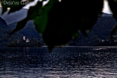 A chapel on an island in the lake. Lake Bled, Slovenia, June 2013. Photo © Deja'vu Gallery