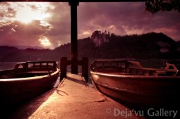 You can see the Lake Bled Castle from this view. Lake Bled, Slovenia, June 2013. Photo © Deja'vu Gallery