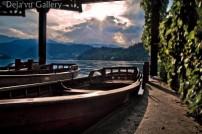 Jessica loves boats! Lake Bled, Slovenia, June 2013. Photo © Deja'vu Gallery