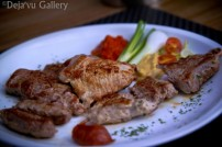 Jessica ordered some kind of steak, I am not sure since I am vegetarian :). Slovenia, June 2013. Photo © Deja'vu Gallery