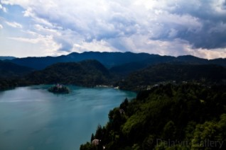 View of the lake from the castle top! Lake Bled Castle, Slovenia, June 2013. Photo © Deja'vu Gallery