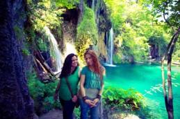 Jess & I. Plitvice Lakes National Park, Croatia, June 2013. Photo © Deja'vu Gallery