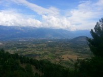 I was awestruck by the mountains and the valleys on my way to the Abruzzo region.