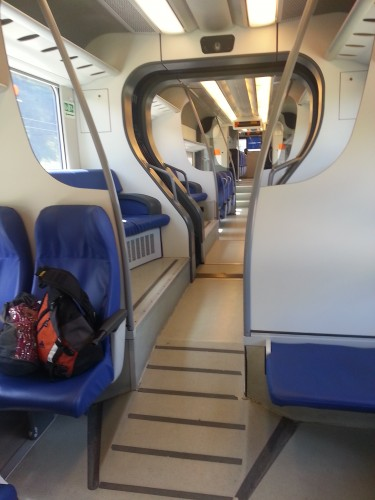This is what the inside of the regional train to Cerchio looked like.