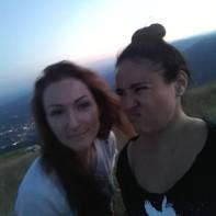 Goofing around in the Dolomites, Italy. Photo taken by Trina Otero.