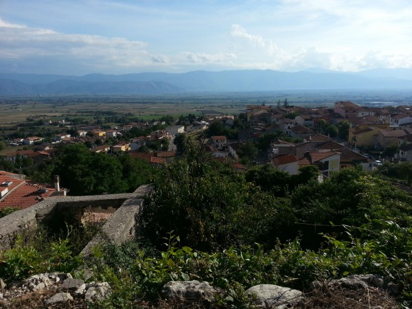 A view of Cerchio from higher land. Photo taken with my Galaxy Note II.