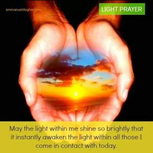 Lightworker's Prayer. Image from http://emmanueldagher.com/
