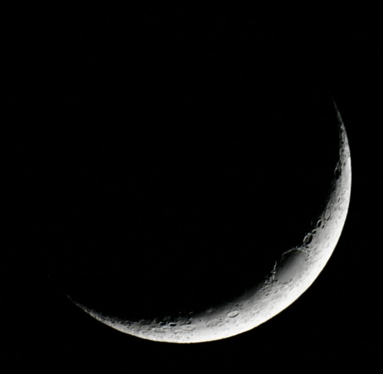 New moon on January 1, 2014