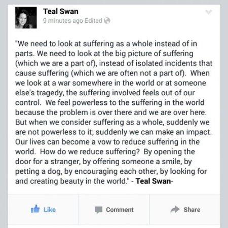 Teal Swan on Facebook