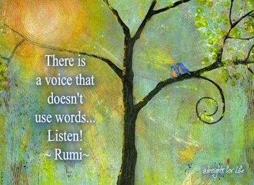Just listen by Rumi, Akosmopolite