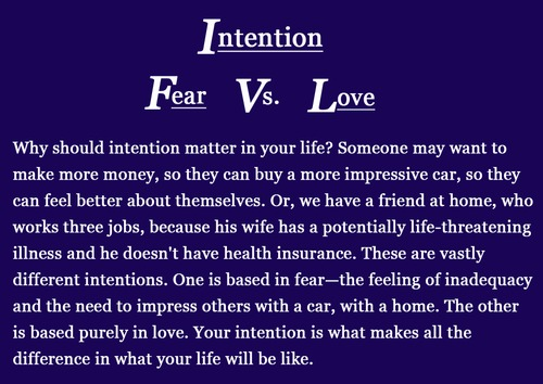 intention behind actions