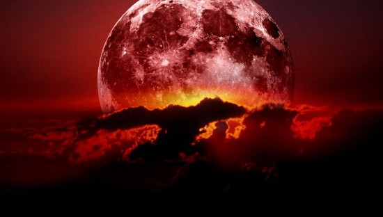Full moon, lunar eclipse April 15, 2014