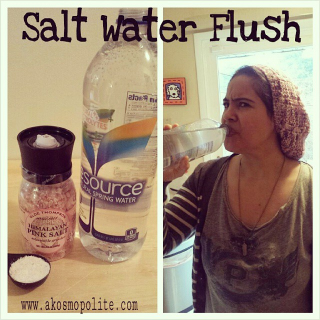 salt water flush