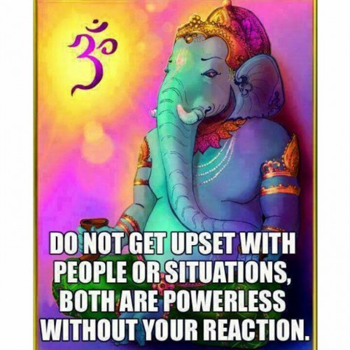 think before you speak, ganesha, be mindful, respond not react