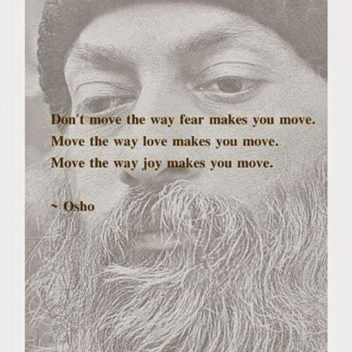 choose love not fear, heart and ego, osho