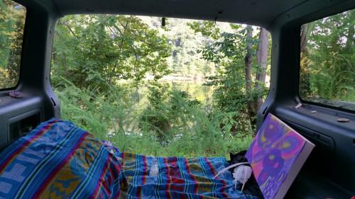 frugal camping, road trip, gypsy van, freedom