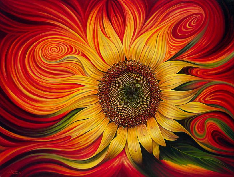 Girasol Dinamico by Ricardo Chavez, complete with sacred geometry