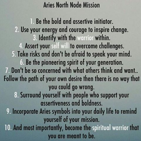 Aries north node