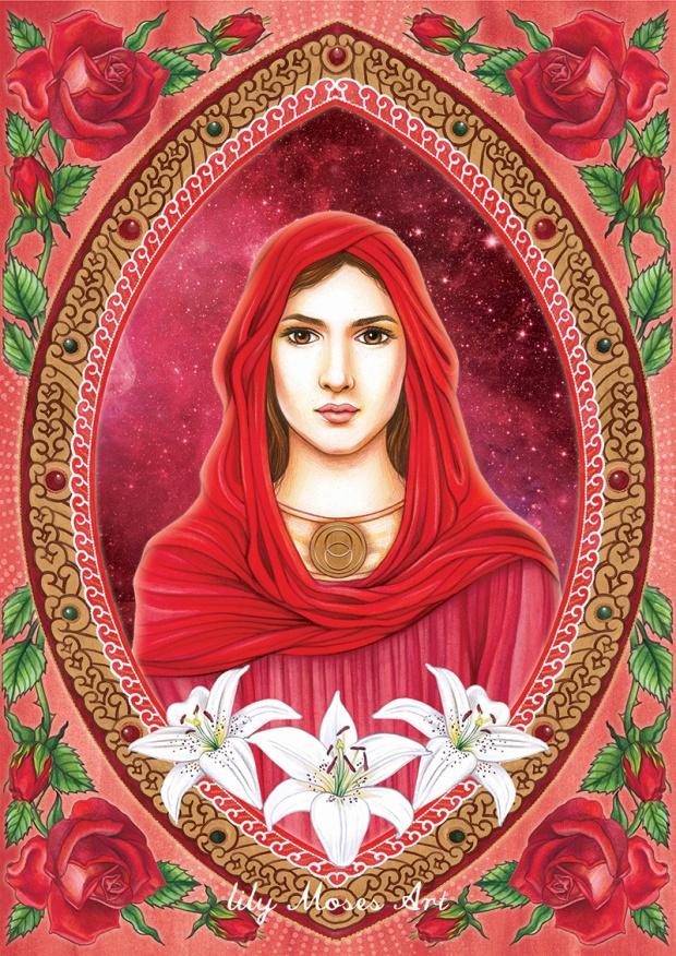 Mary Magdalene Mother Mary Priestess Divine Feminine Trina Akosmopolite